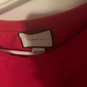 Gucci Red High end Shirt. XL. Tight fit